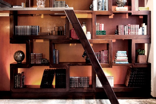 Project: Custom Bookcases - solid hand-carved Mahogany Bookcase