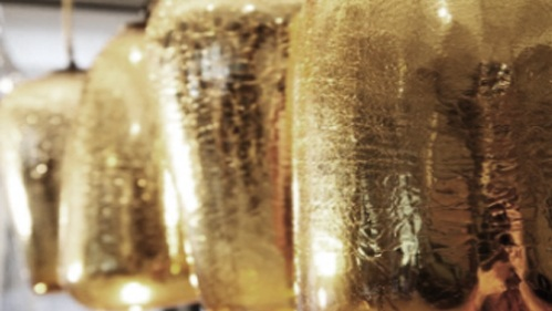Project: gold crackled mirrored pendants