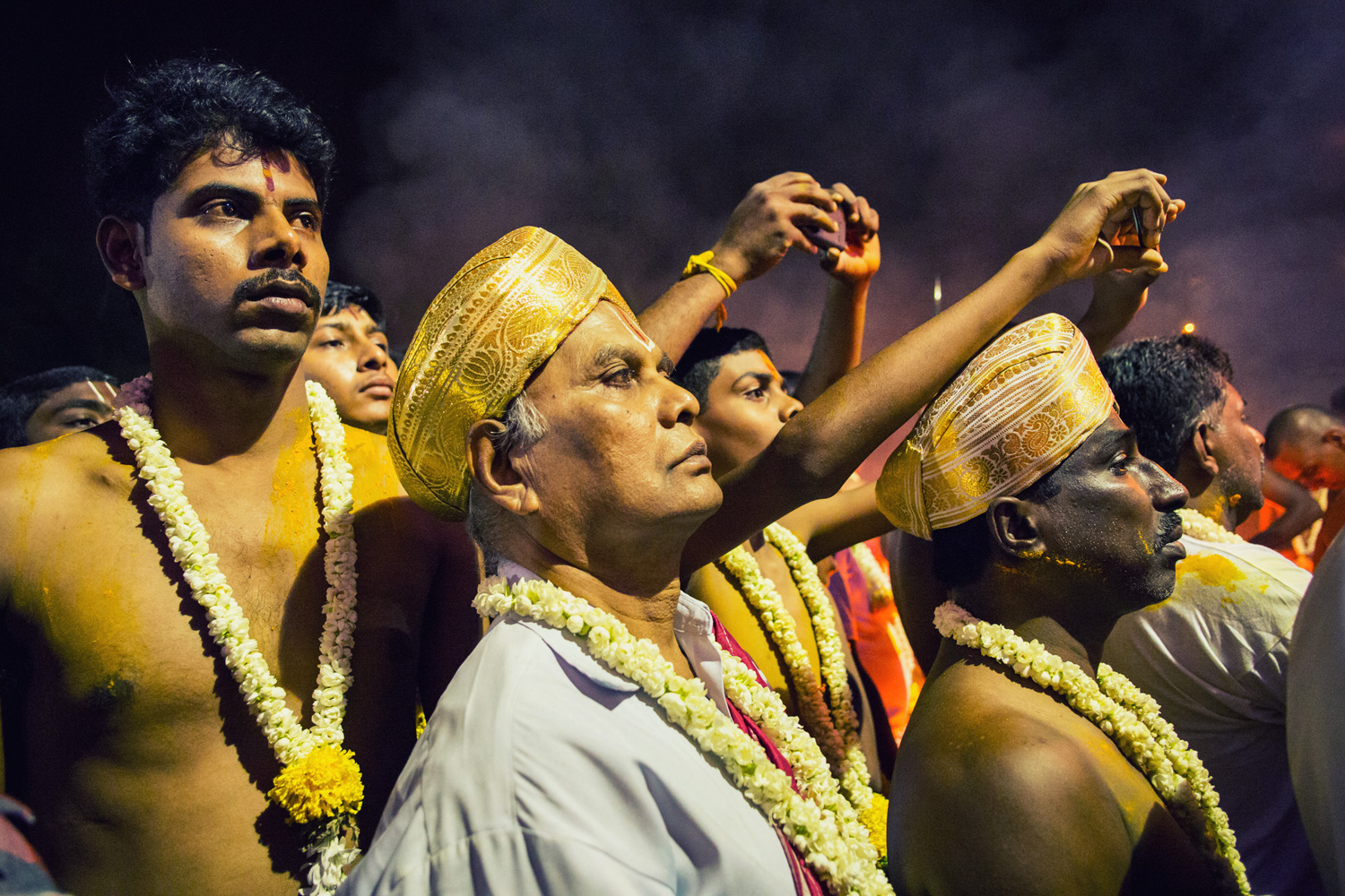 The Veerakumaras watching the proceedings of the Karaga.