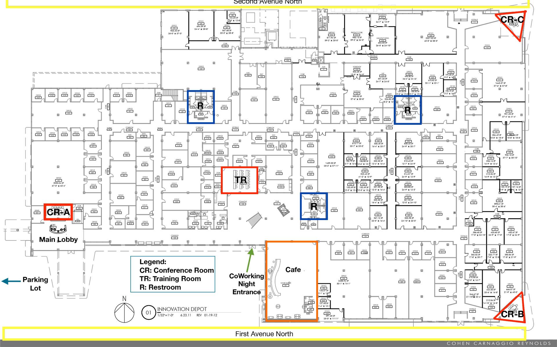 Map of Innovation Depot