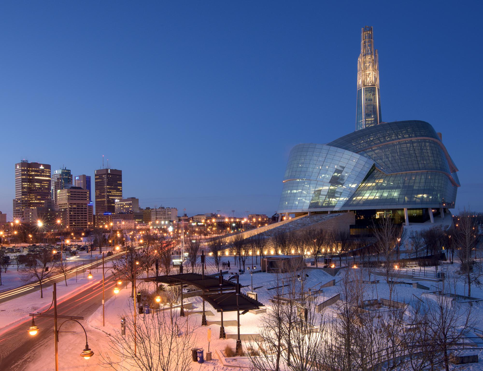 Downtown Winnipeg in the winter. © Robert Lowdon
