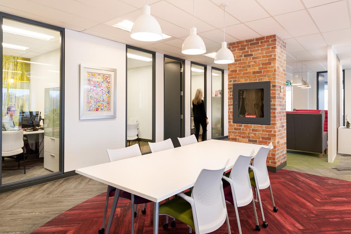 Modern touches create a comfortable work environment. © Robert Lowdon
