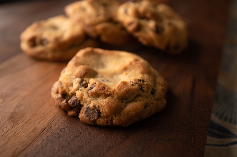 The cookies form a perfect formation. © Robert Lowdon