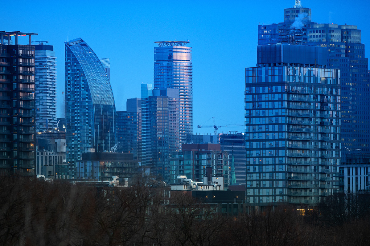 Condo buildings in Downtown Toronto. © Robert Lowdon