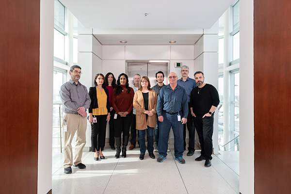 A group photo of staff