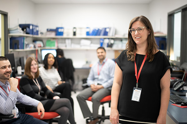 A researcher with her team.