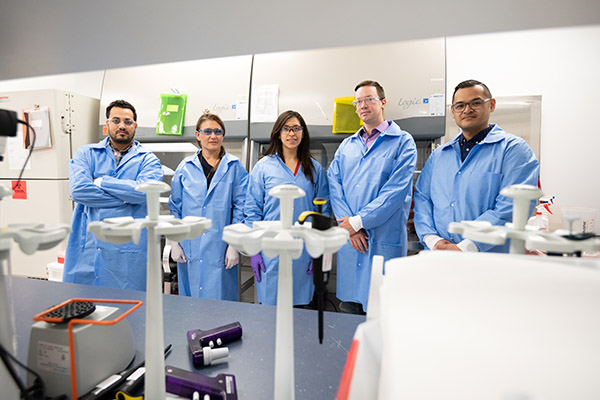 A group photo of lab researchers.