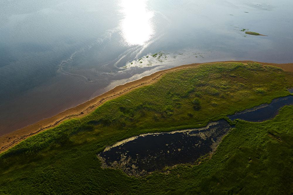Drone image of the coast of Prince Edward Island. © Robert Lowdon