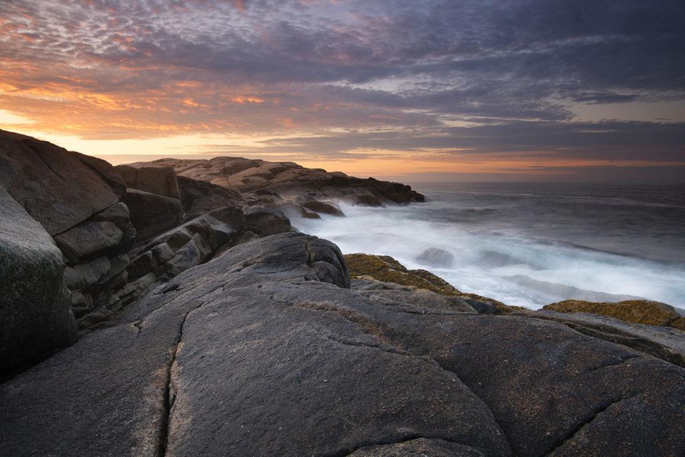 The coast of Nova Scotia at sunrise. © Robert Lowdon