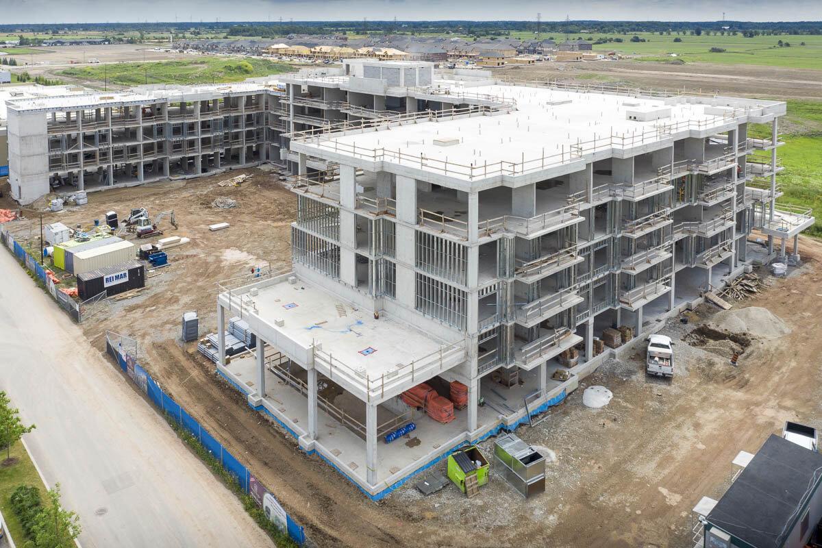 An aerial image of the job site. © Robert Lowdon
