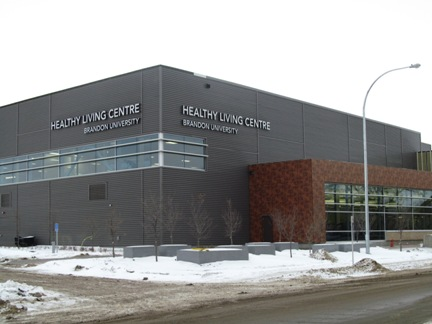 The Healthy Living Centre at Brandon University. (Brady Knight / The Quill)