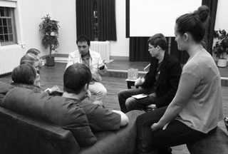File photo. Students discuss after the showing of a documentary last year. (Catherine Dubois)