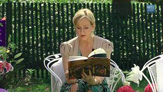 File photo. 'Harry Potter' author J.K. Rowling reading the first installment in her enormously popular series. (Facebook / The magic will last for eternity)