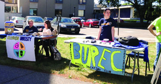 Brandon University Physical Education Club at Club Day on September 11th, 2013. (Holly Kalyniuk / The Quill)