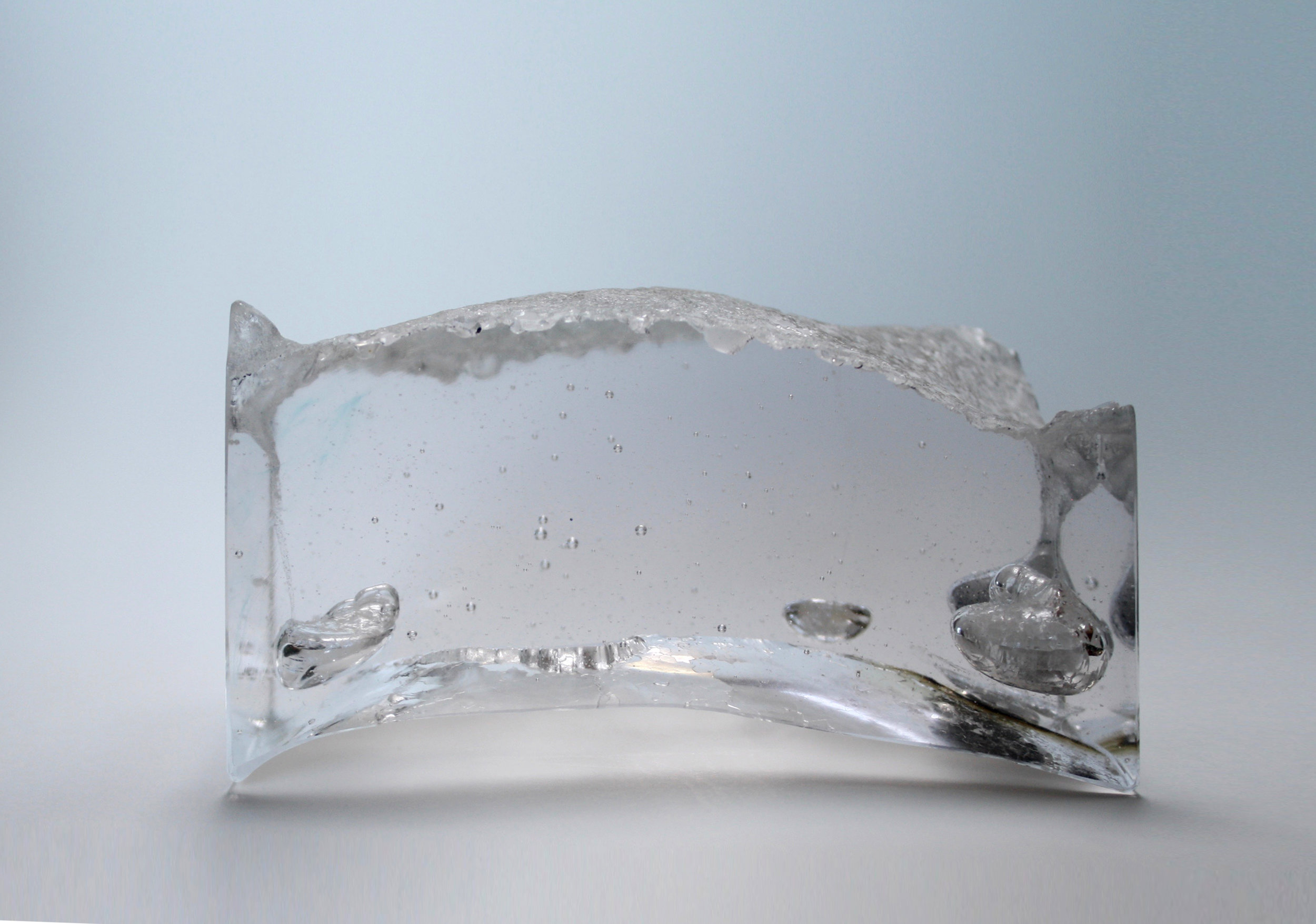 Leila Du Mond Embedded Materiality Saline contemporary art glass