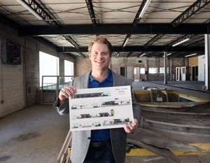 Marshall Stewman inside the old Morrison Supply Co.  Photo by Jerry Larson/Waco Tribune-Herald