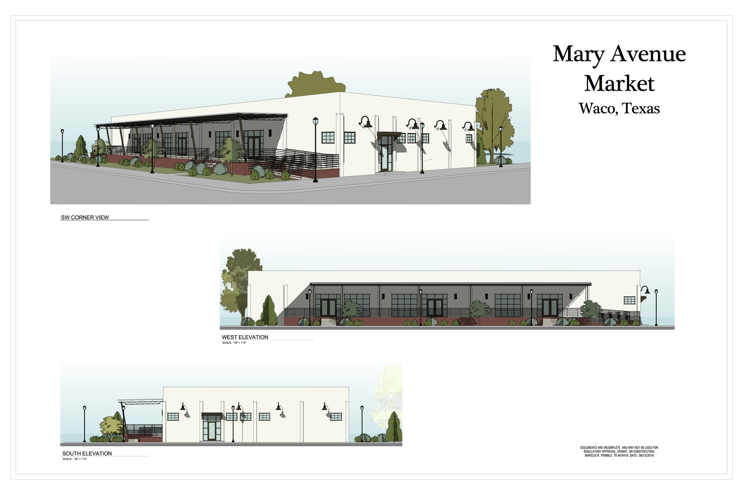 Artistic Rendering of the exterior of Stewman's Mary Avenue Market  Submitted by Stewman