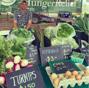 World Hunger Relief Farm's Downtown Farmer's Market Booth  Photo via World Hunger Relief/ Instagram