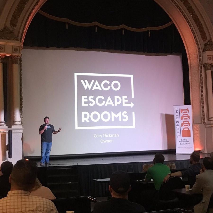 Cory Dickman presenting at 1MC  Photo by Austin Meek/Waco Business News