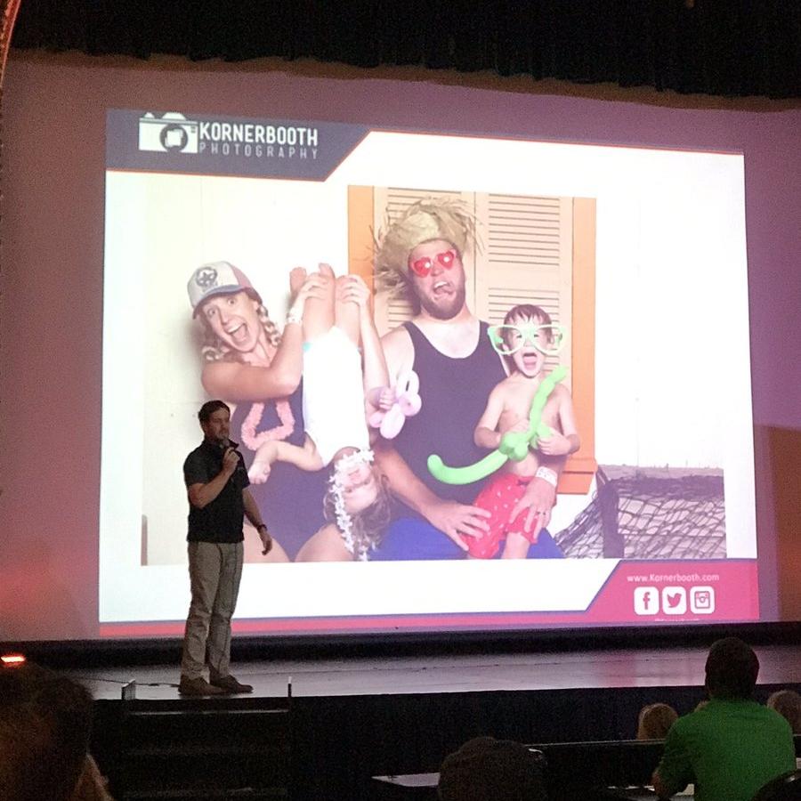 Kevin Cochran presenting Kornerbooth.  Photo by Austin Meek/Waco Business News