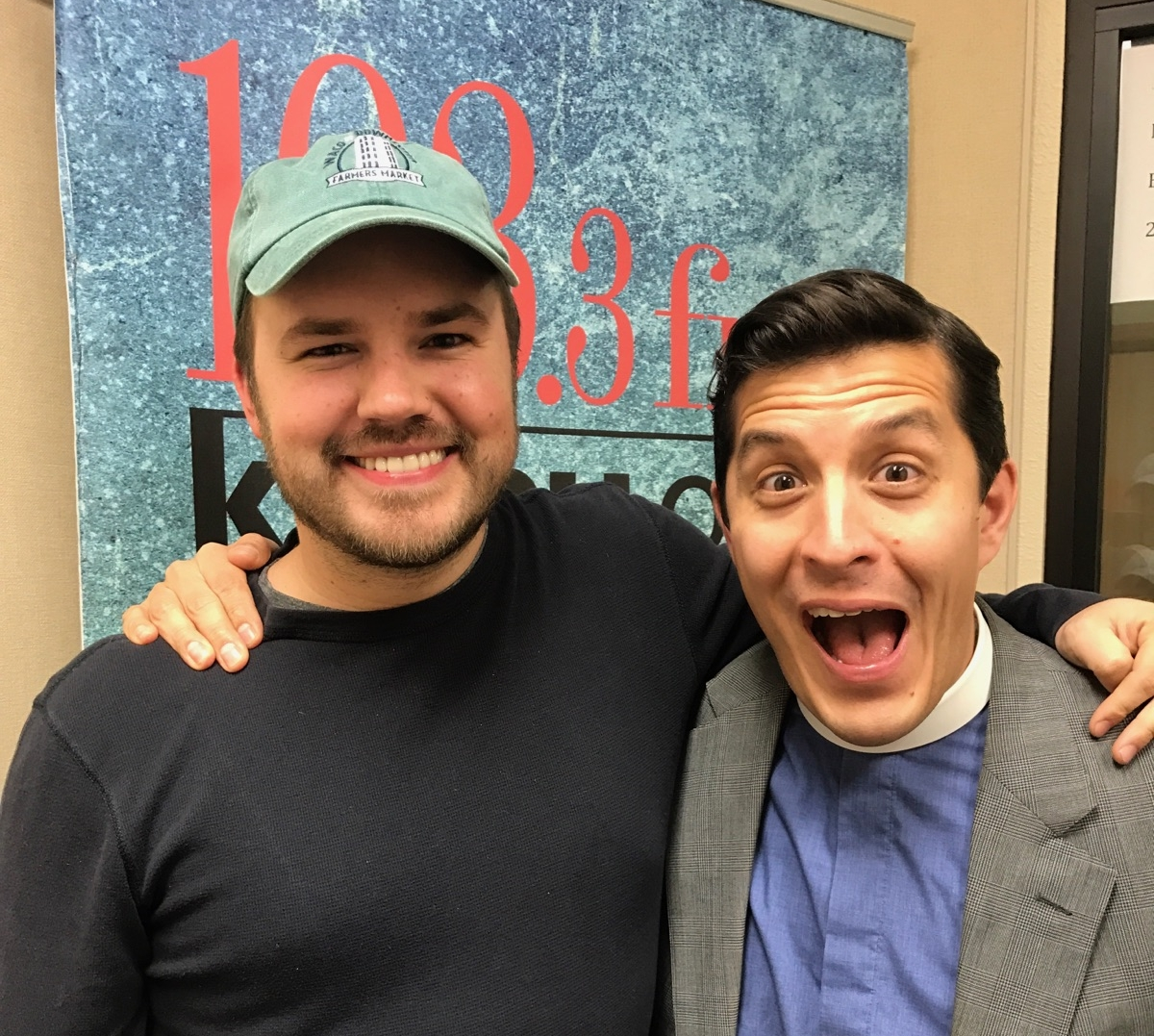 Austin Meek, host of Downtown Depot, with Aaron Zimmerman