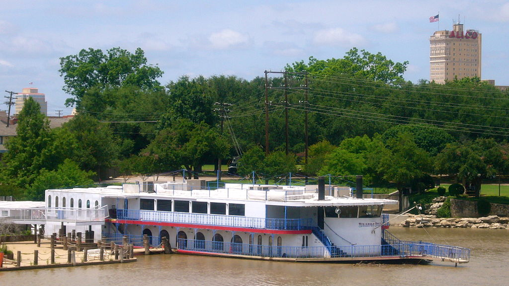 The  Brazos Belle  moored in 2008