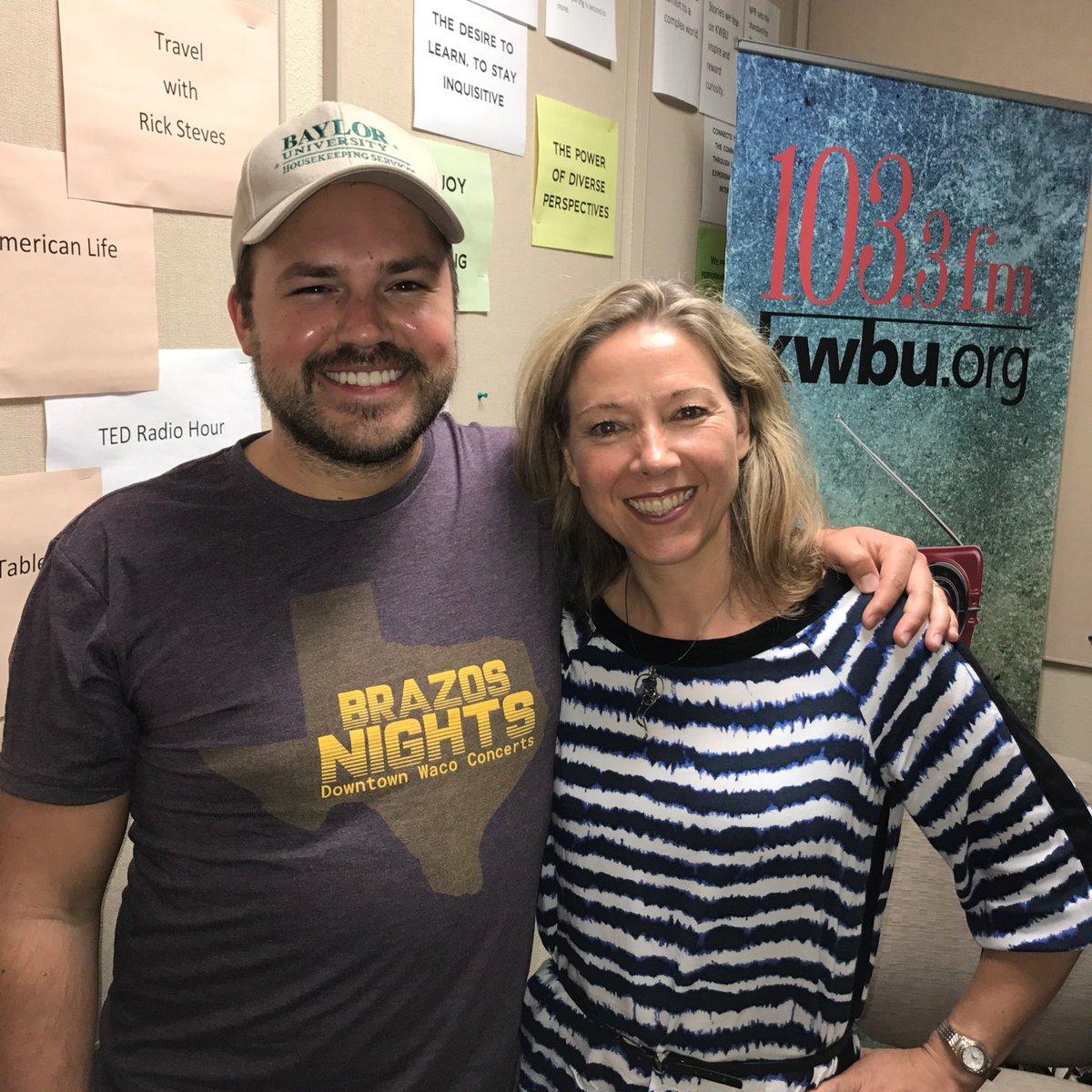 Downtown Depot host Austin Meek with Fiona Bond