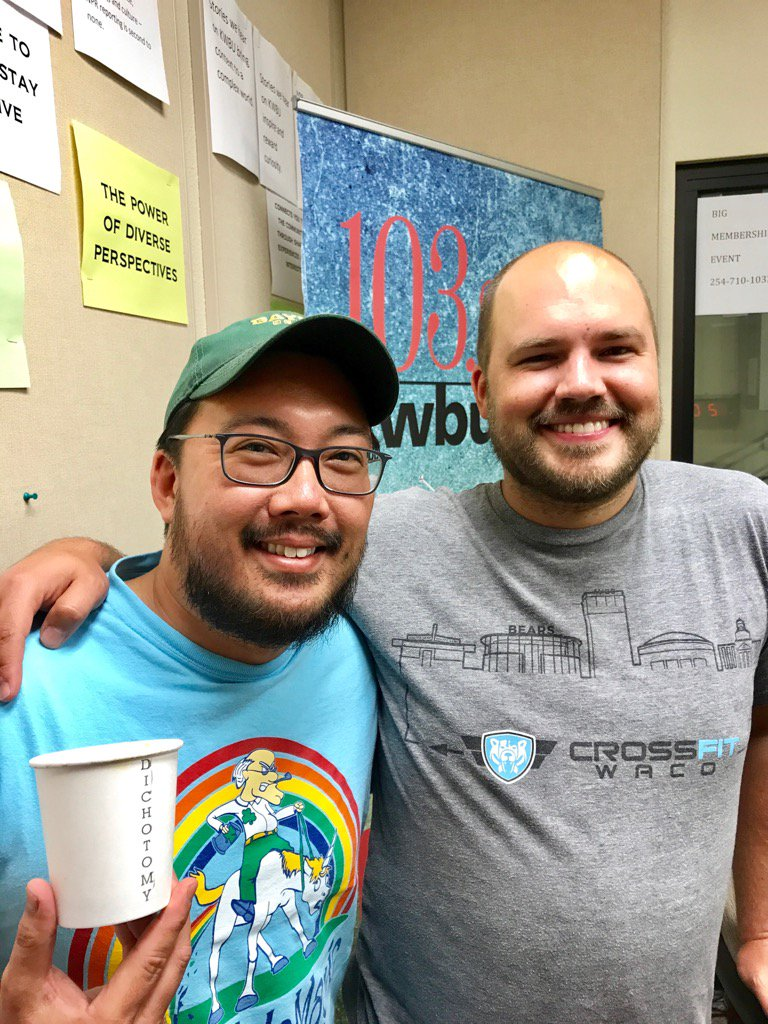 Youngdae Moon, owner of Club Sandwich, with Downtown Depot host Austin Meek