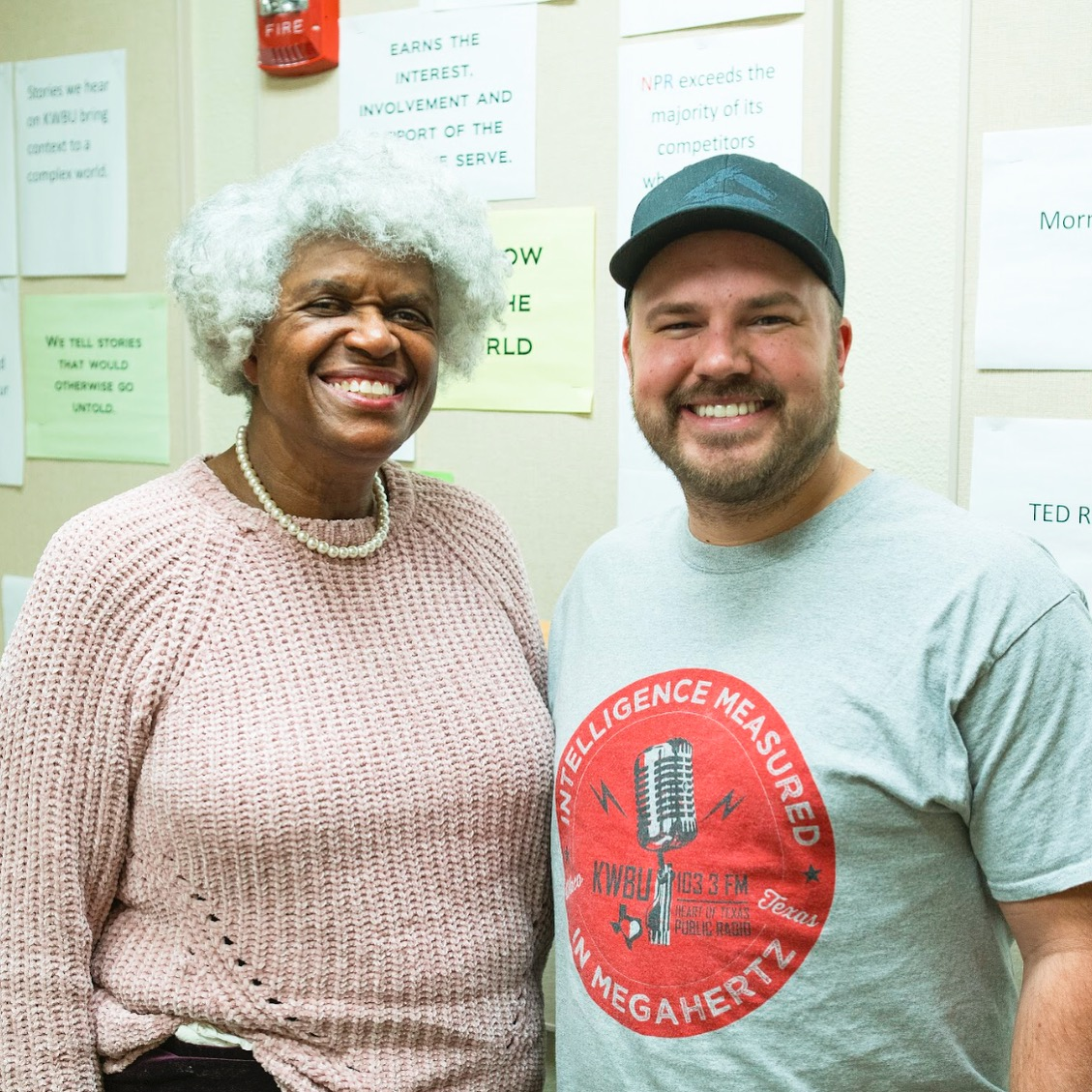 Bettie V. Beard with show host Austin Meek