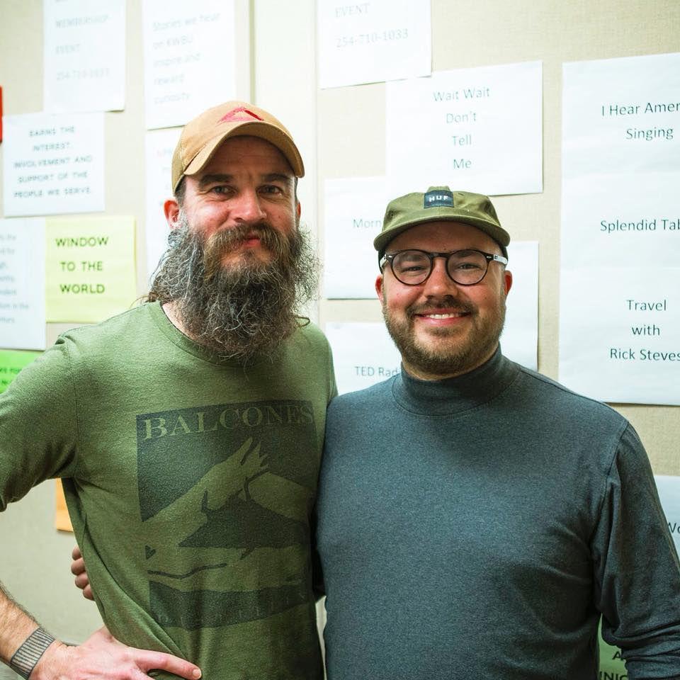 Jared Himstedt with show host Austin Meek
