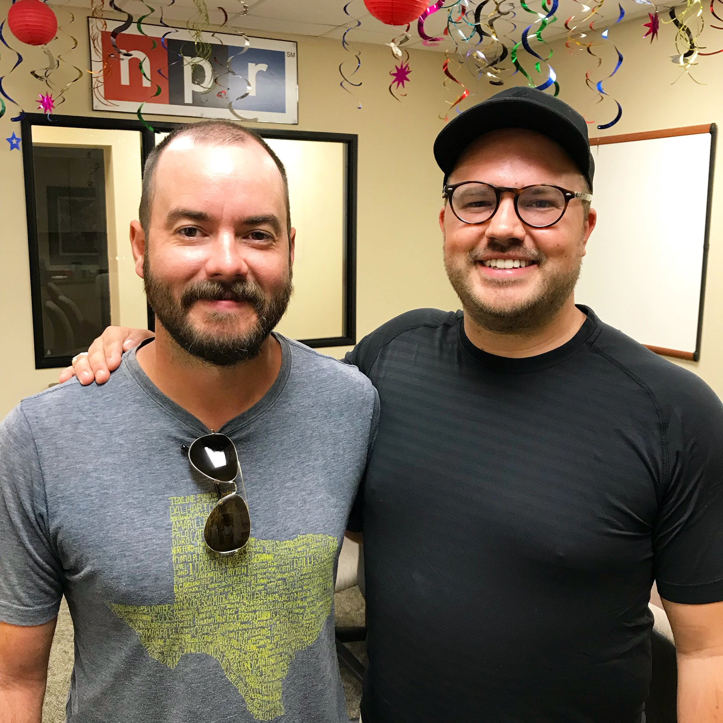 Reid Guess with show host Austin Meek