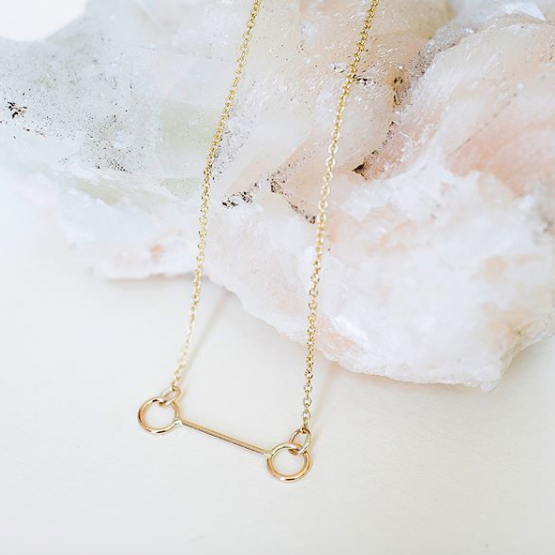 "The Como Necklace, available with a 17"" or 19"" chain. Photograph from EM Jewelry + Design."
