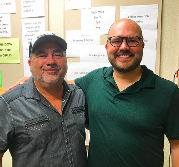 Gary Findley with show host Austin Meek