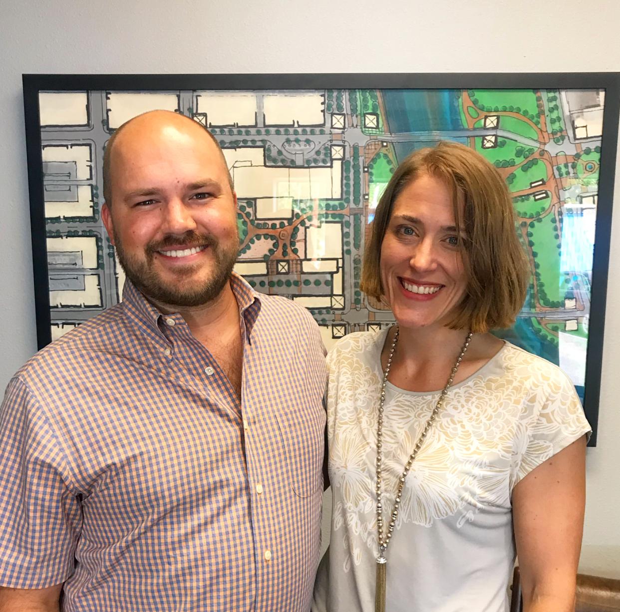 Show host Austin Meek with Megan Henderson