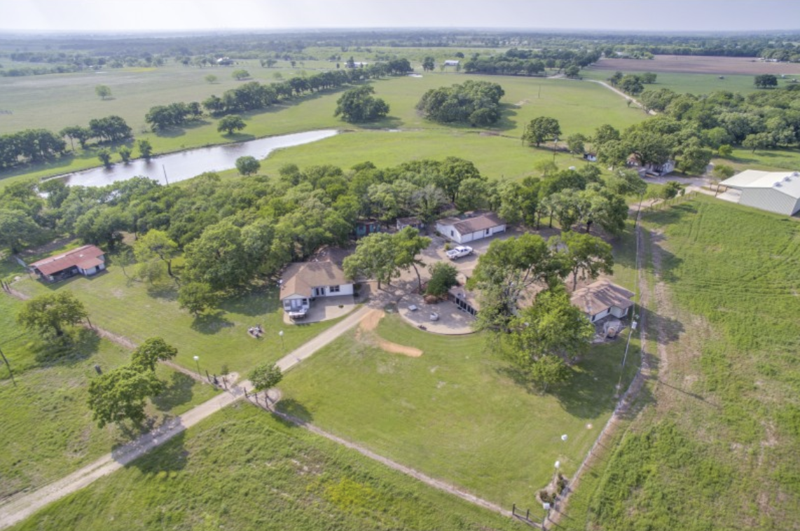 The 173-acre Elm Lake Ranch in Riesel, listed for $1.75 million by A.G. Real Estate.