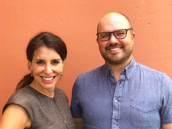 Loren Schwartz with show host Austin Meek