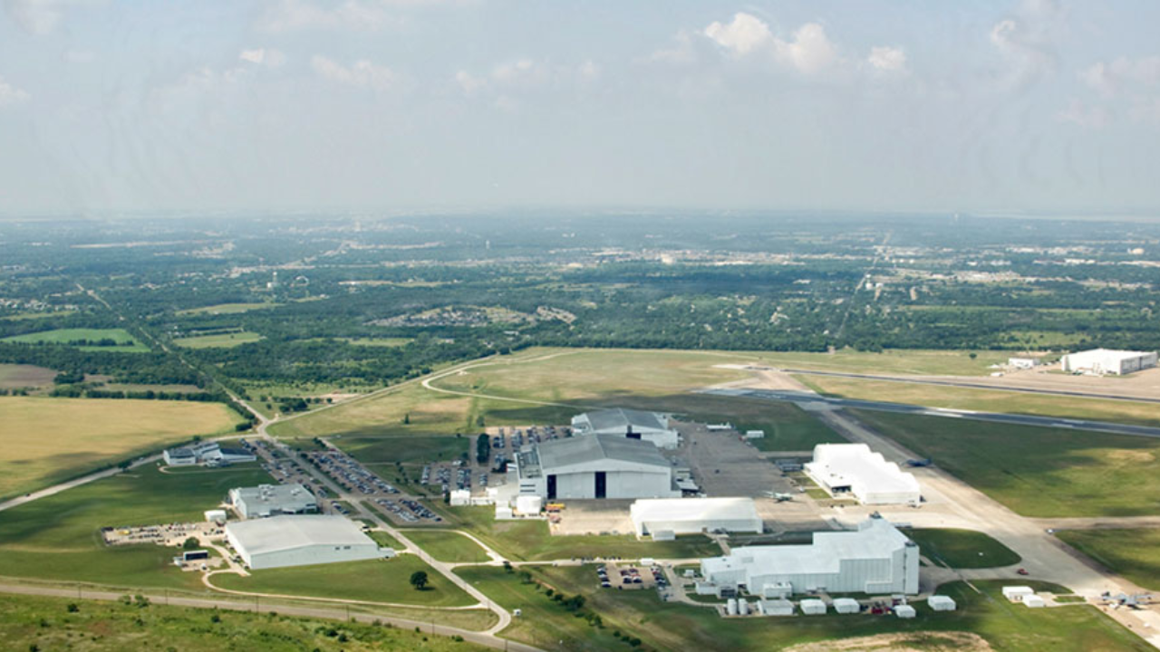 L3 Technologies hangars located near Texas State Technical College in Waco.