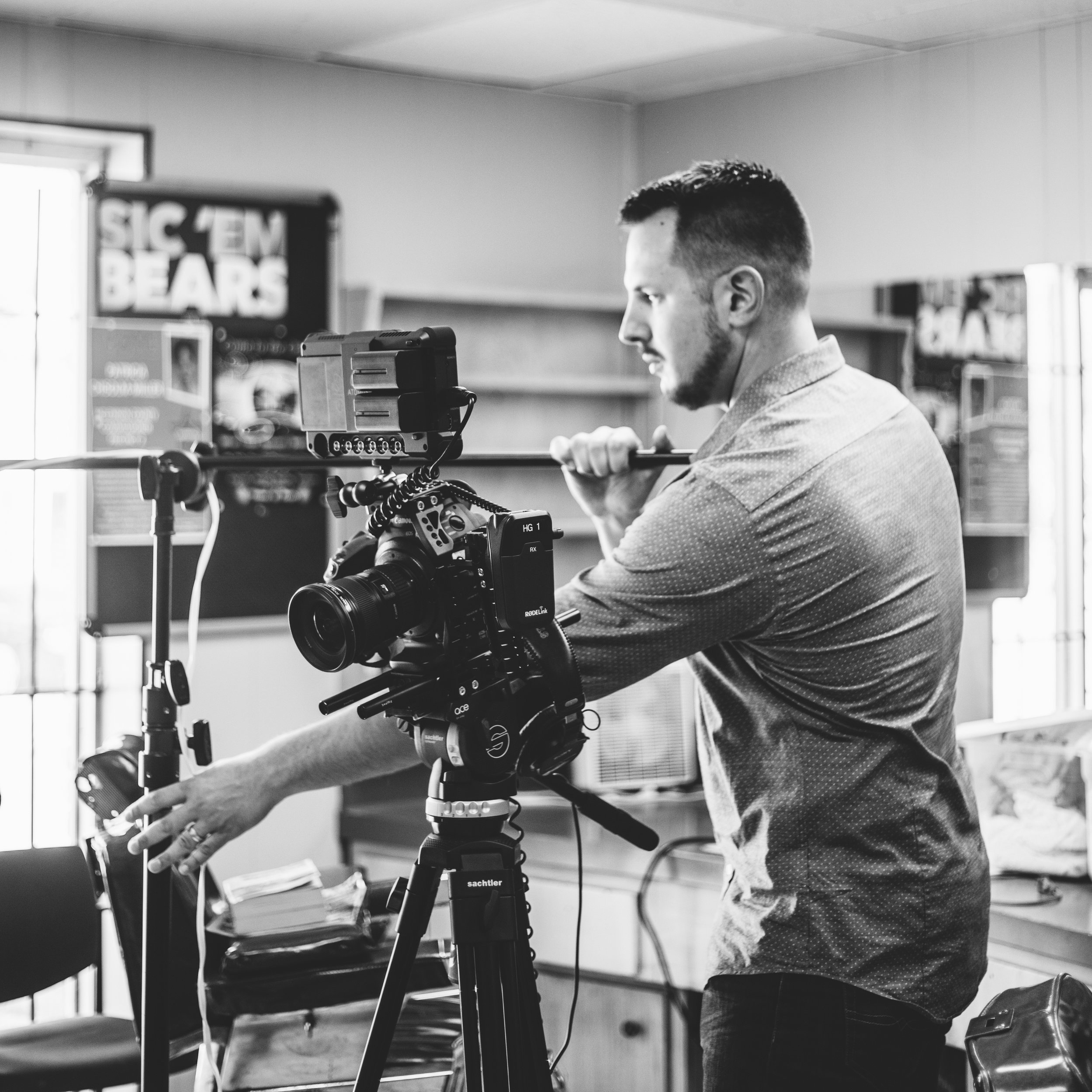 Jake McGhee, an Air Force veteran who has found a calling making commercials for some of Waco's biggest brands.