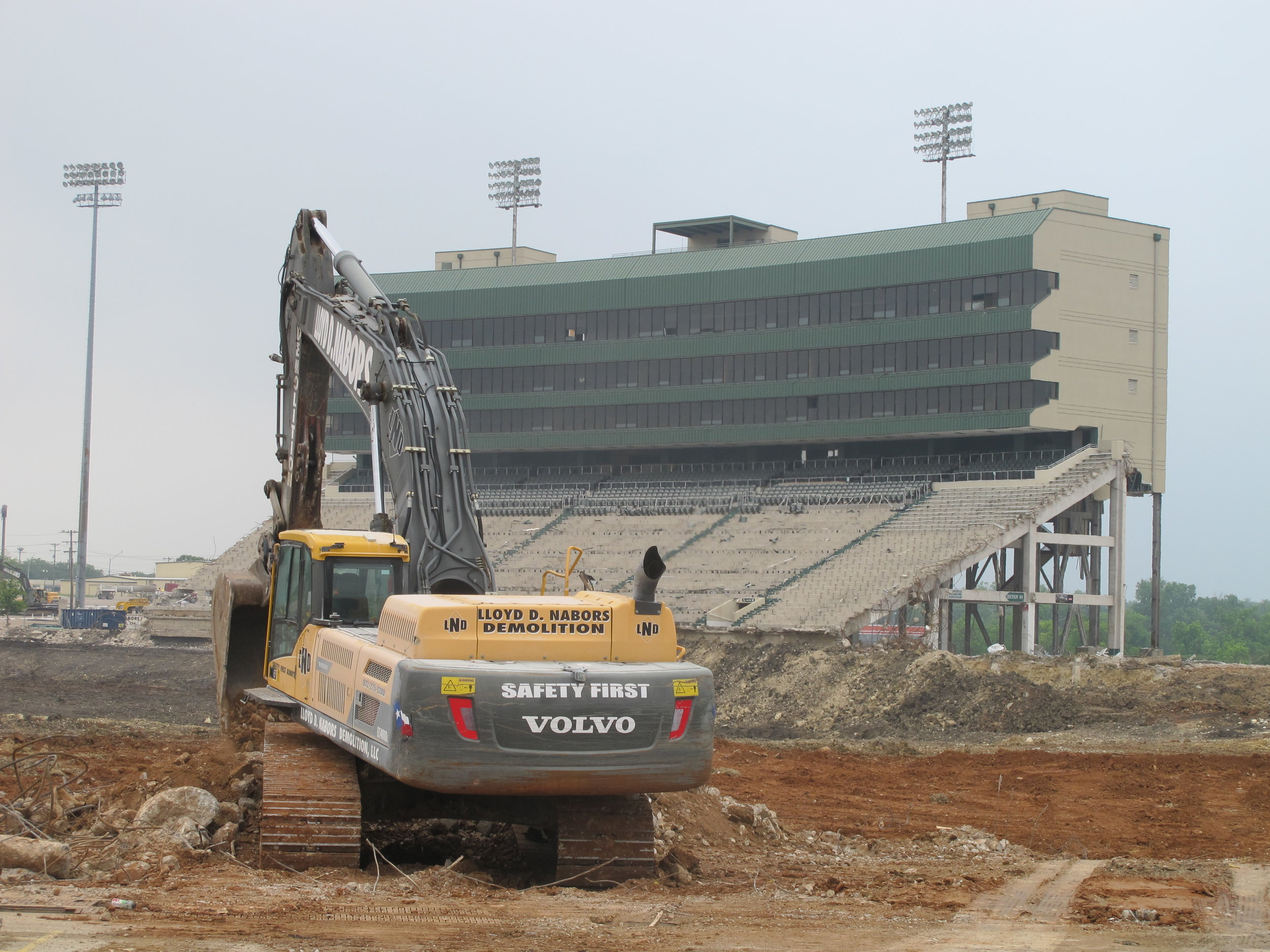 Floyd Casey Stadium, the former home of the Baylor football team, was demolished in 2016 and is now subject to a proposed housing development on the site.