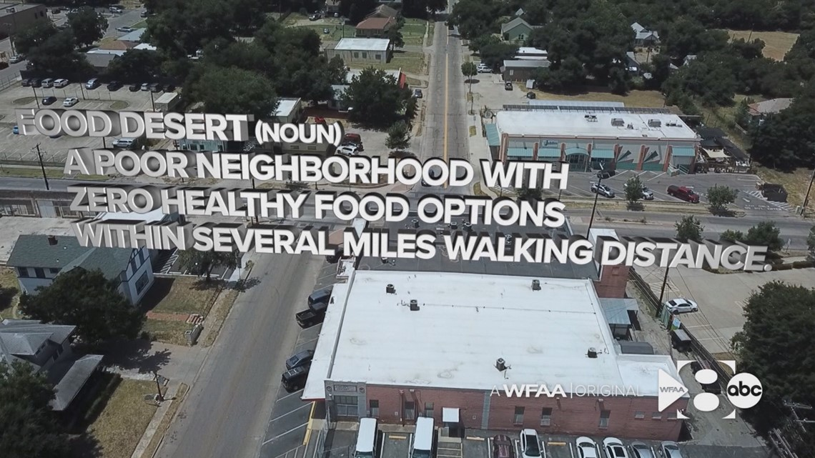 A screen shot from WFAA 's profile on Jubilee Food Market on Colcord Avenue.