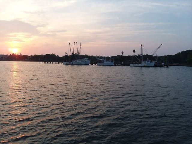 Up and moving before the shrimp fleet is awake.