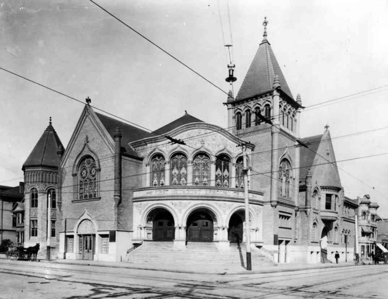 First Methodist Episcopal Church, Hill Street, circa 1902