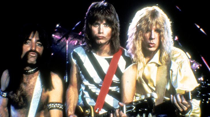 "Harry Shearer, Christopher Guest, & Michael McKean in ""This Is Spinal Tap."""