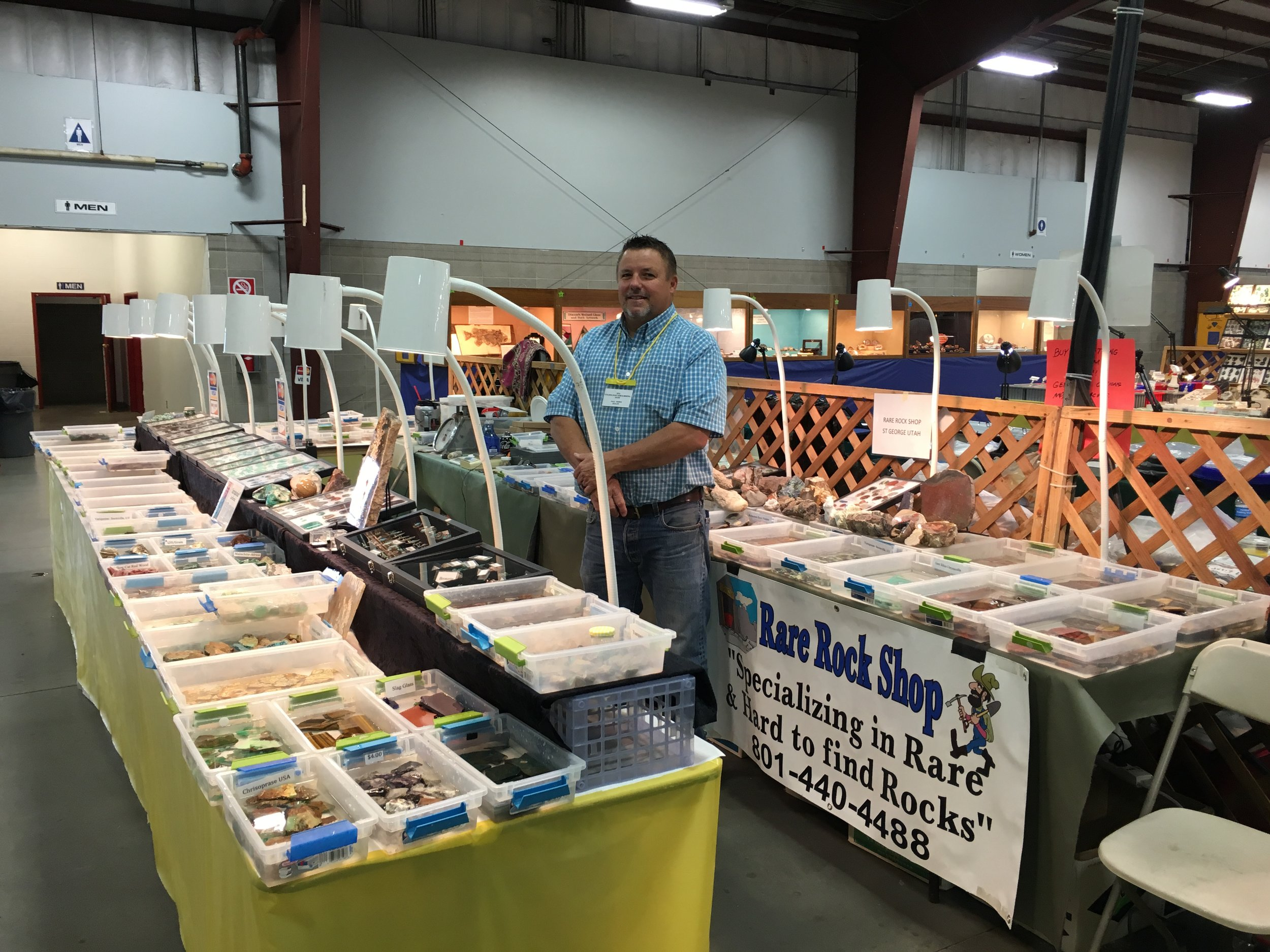 Founder Paul Hanks at one of our many Gem and Mineral Showcases.