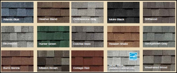 CertainTeed's current shingle options