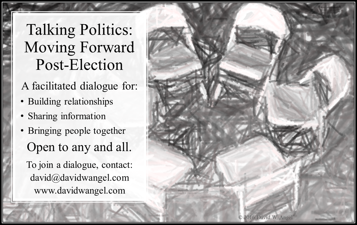 A facilitated dialogue open to any and all.