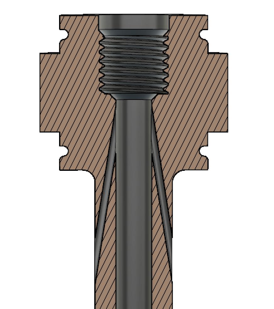 Cross section of vapor sampler