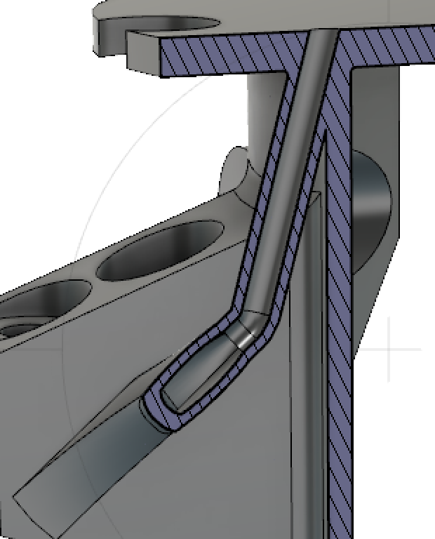 Cross section of wire guide