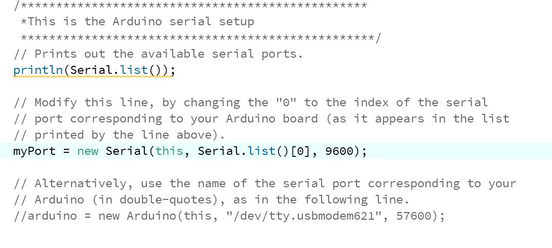 Port located at index 0