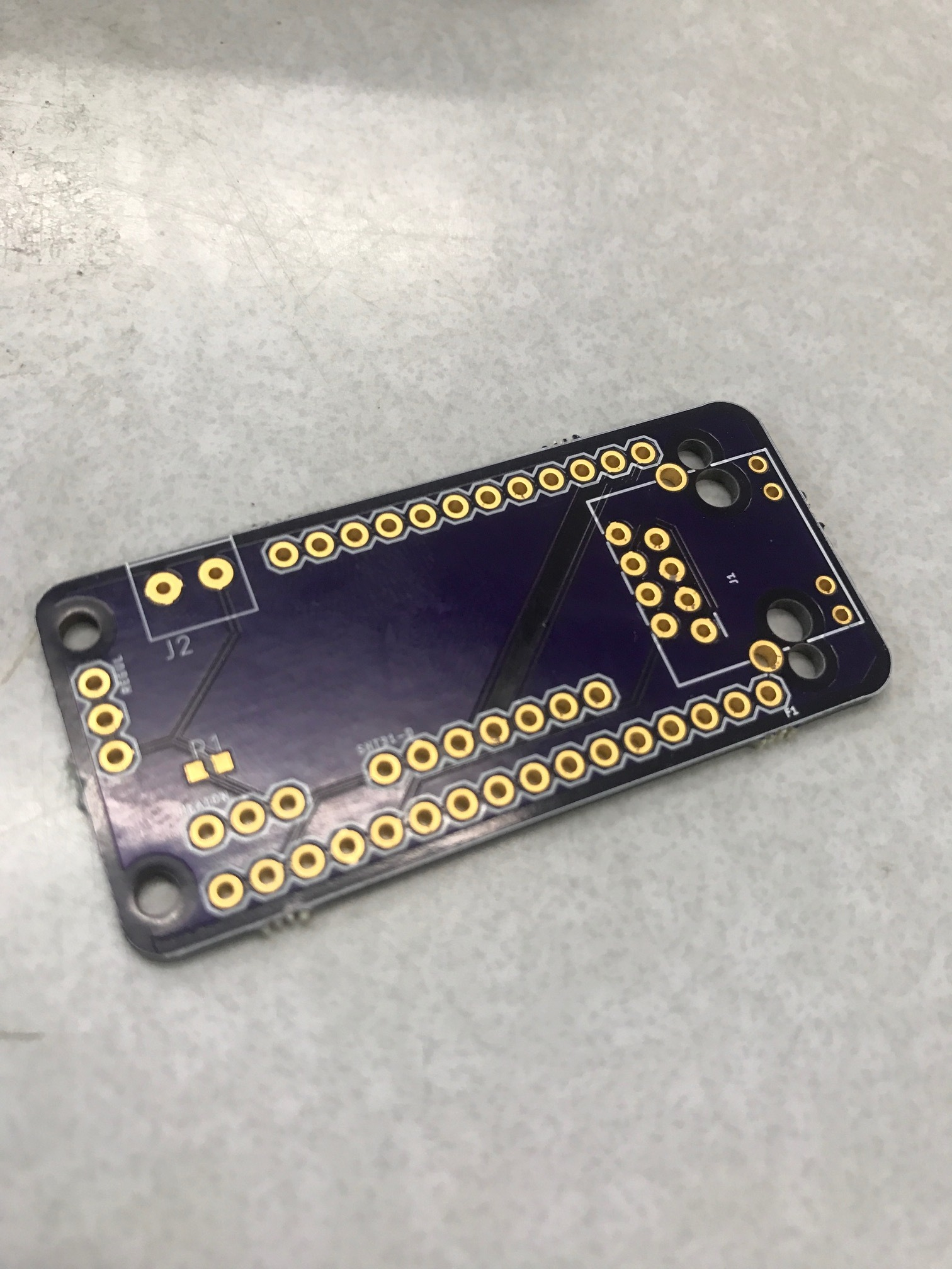 This is our custom PCB, which is linked above, without any parts on it yet. This is the best place to start!